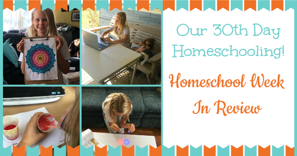 homeschool week in review 1