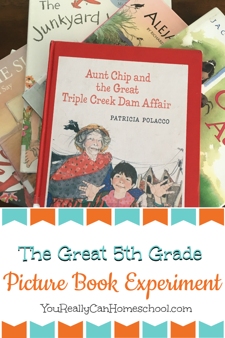 The Big 5th Grade Picture Book Experiment ~ YouReallyCanHomeschool.com