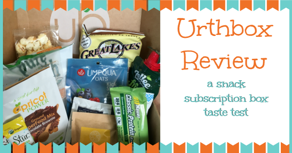 snack subscription box ~ urthbox review