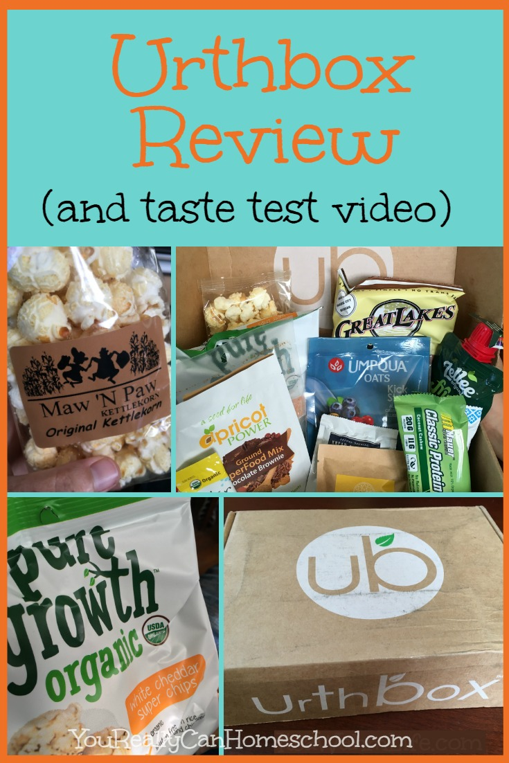 Snack Subscription Box ~ Urthbox Review ~ YouReallyCanHomeschool.com