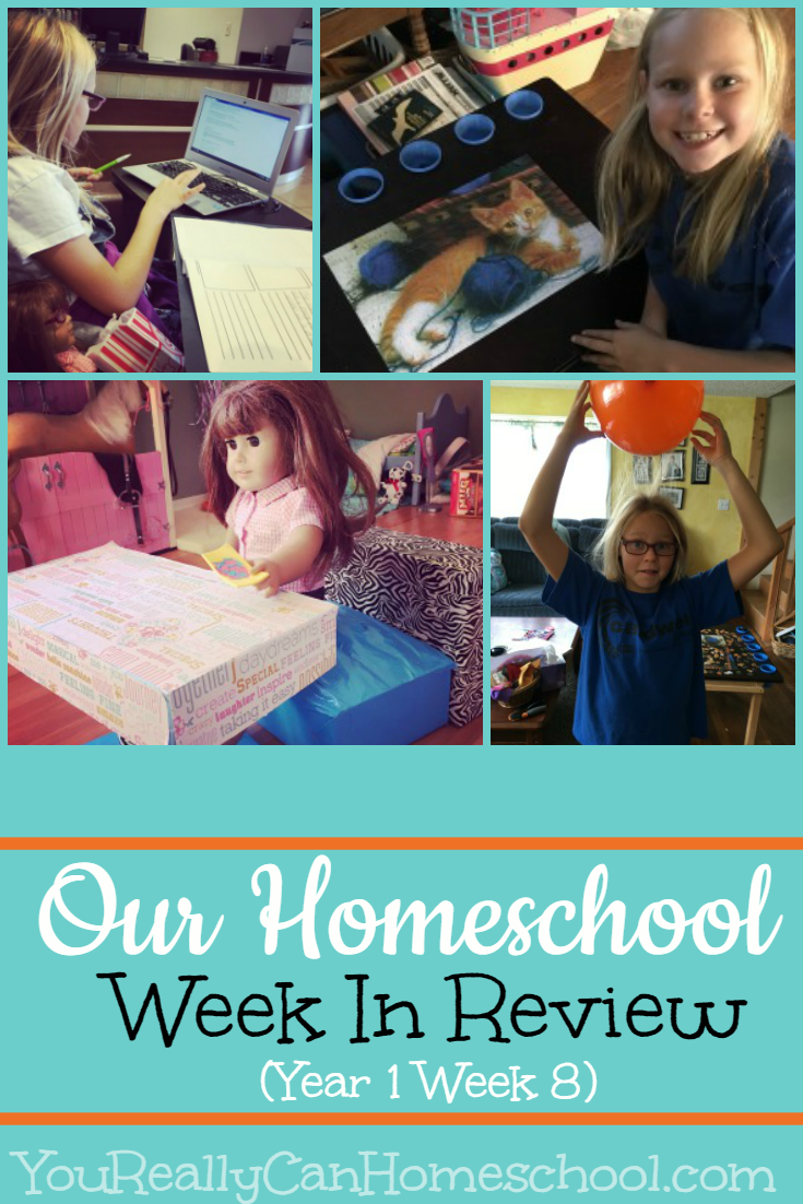 Homeschool week in review (Year 1 Week 8) YouReallyCanHomeschool.com