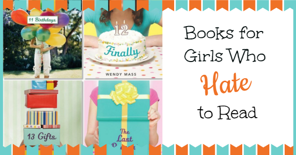 books for girls who hate to read