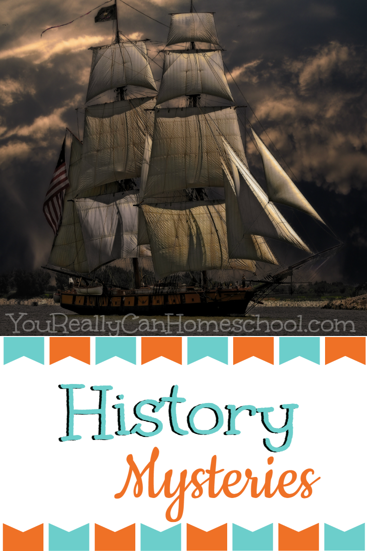 history Mysteries, a fun and mysterious way to study history. YouReallyCanHomeschool.com