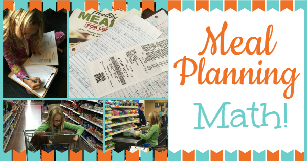 Meal Planning math ~ YouReallyCanHomeschool.com