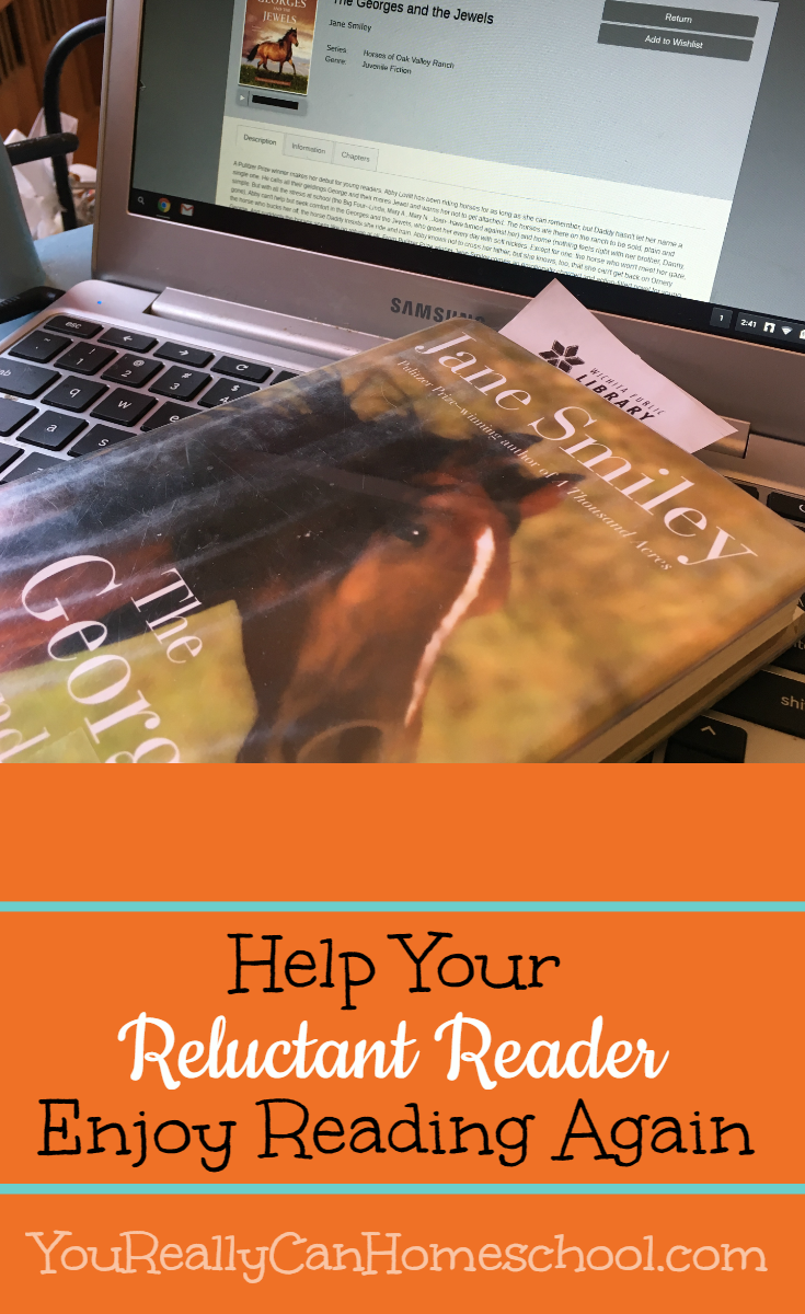 help your reluctant reader ~ YouReallyCanHomeschool.com