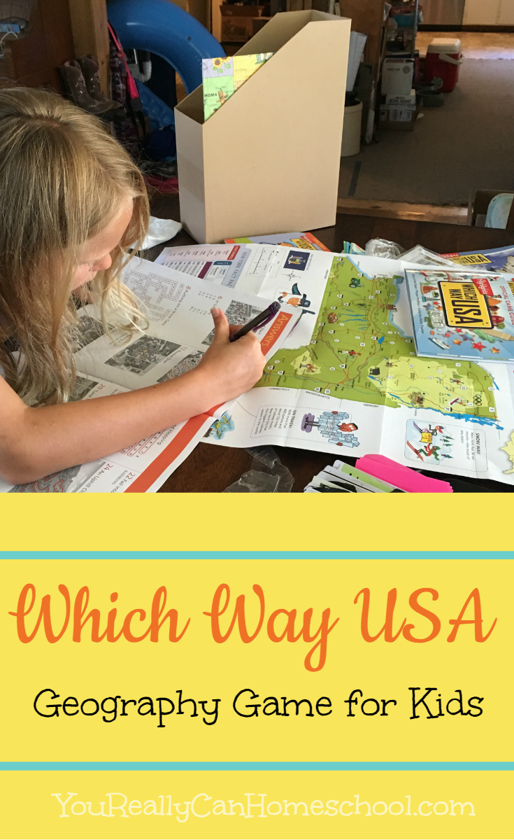 which way usa ~ geography game for kids. YouReallyCanHomeschool.com