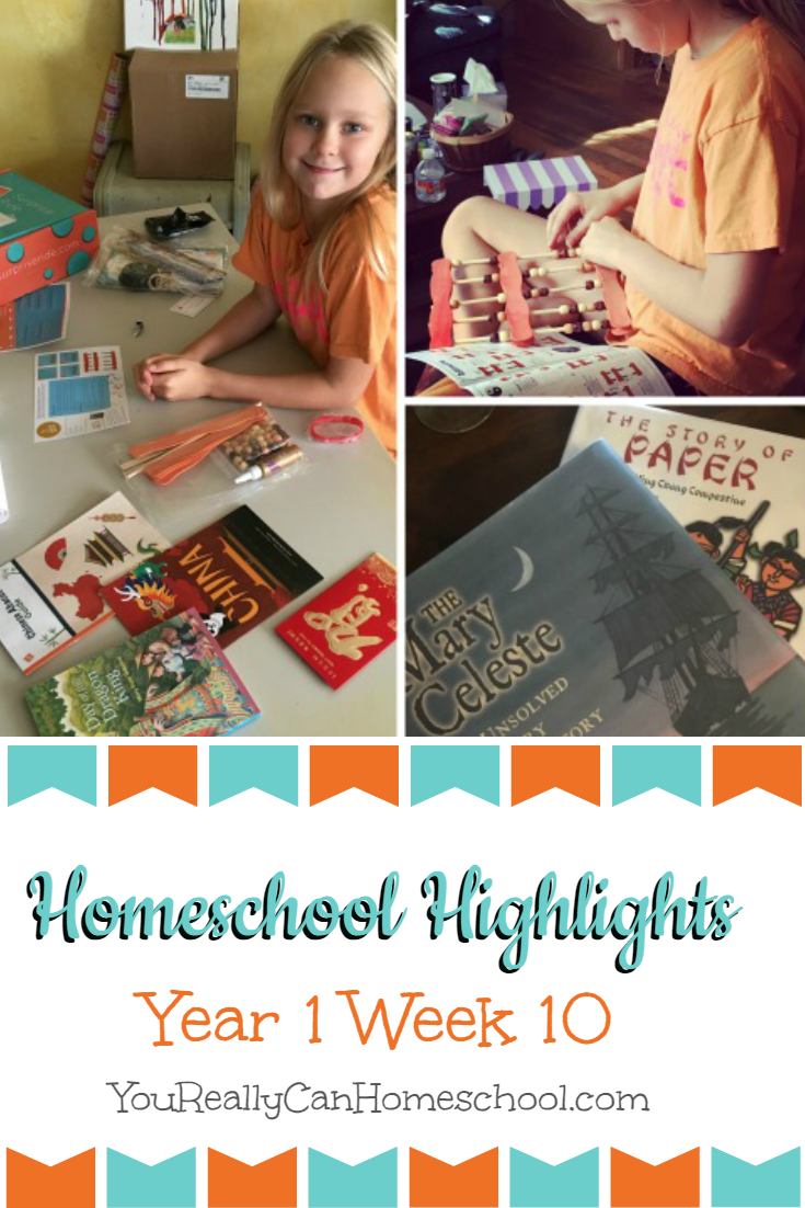 Homeschool Weekly Wrap Up Year 1 Week 10. YouReallyCanHomeschool.com