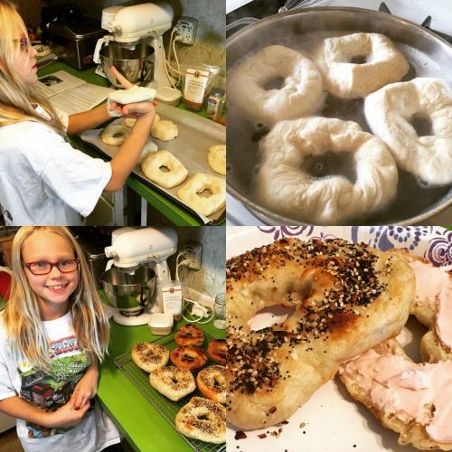 homeschool highlights making bagels