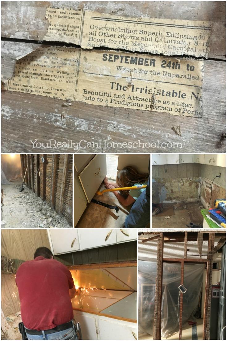 homeschooling through a kitchen renovation