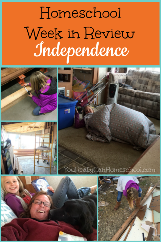Homeschool week in review: I felt like a total slacker homeschool mom this week, however, I realized my not being right there, all the time led to some really great independent learning. :) See what I mean, click and read the whole story.