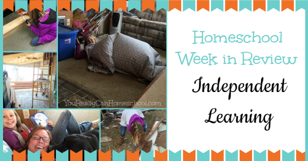 Homeschool week in review: independent learning