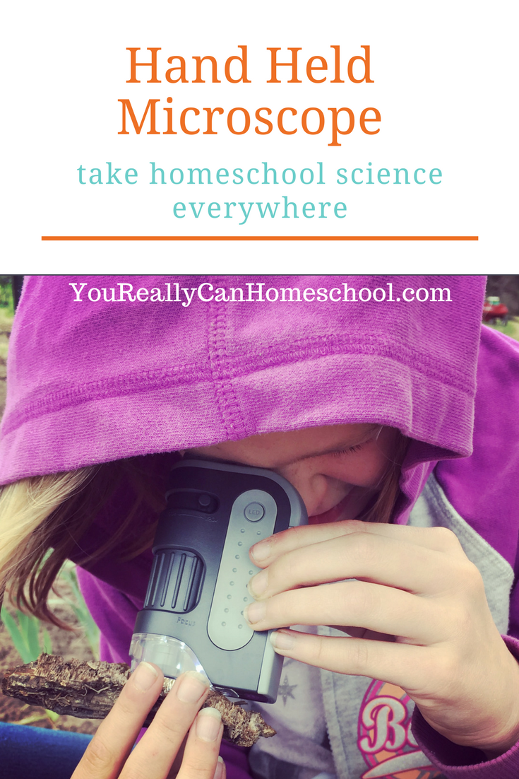 Hand Held Microscope take homeschool science everywhere