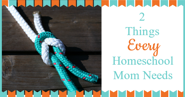2 things every homeschool mom needs