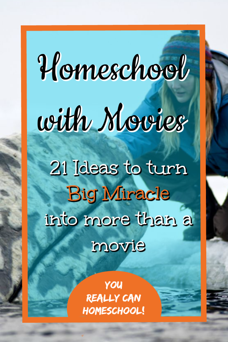 Homeschool with movies. 21 Ideas to turn Big Miracle into more than just a movie.