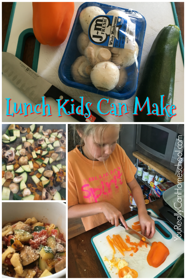 Part of homeschool is teaching kids life skills, cooking is one of the biggies. Why not let your kids have some practice making a meal. This is a lunch recipe kids can make easily and it's also delicious.