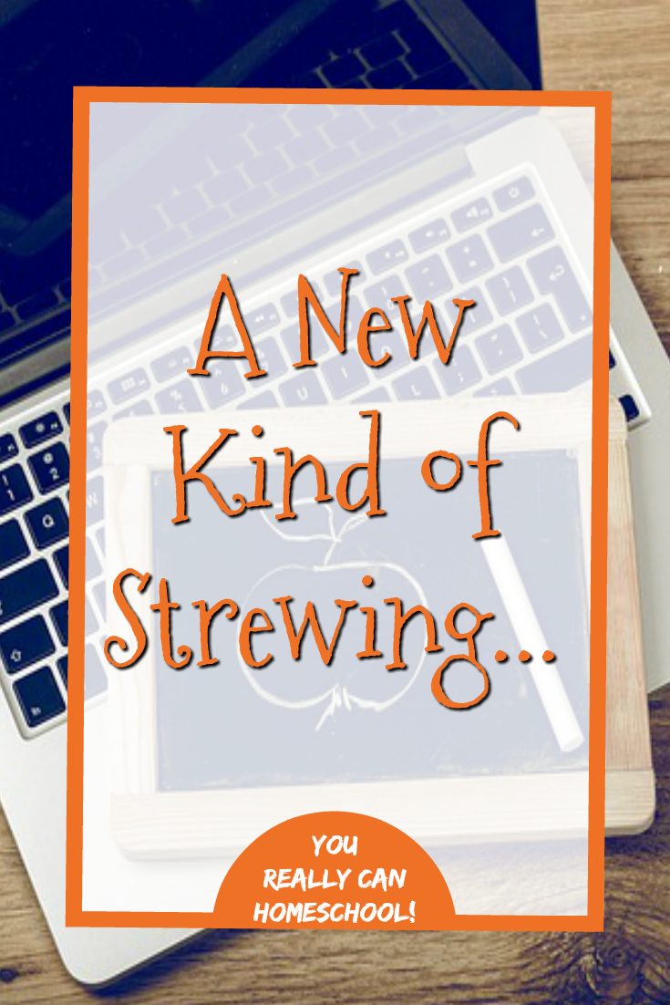 Strewing isn't only for unschoolers anymore! Strewing used to look like laying books around the house... this is a whole new way to strew! #homeschool