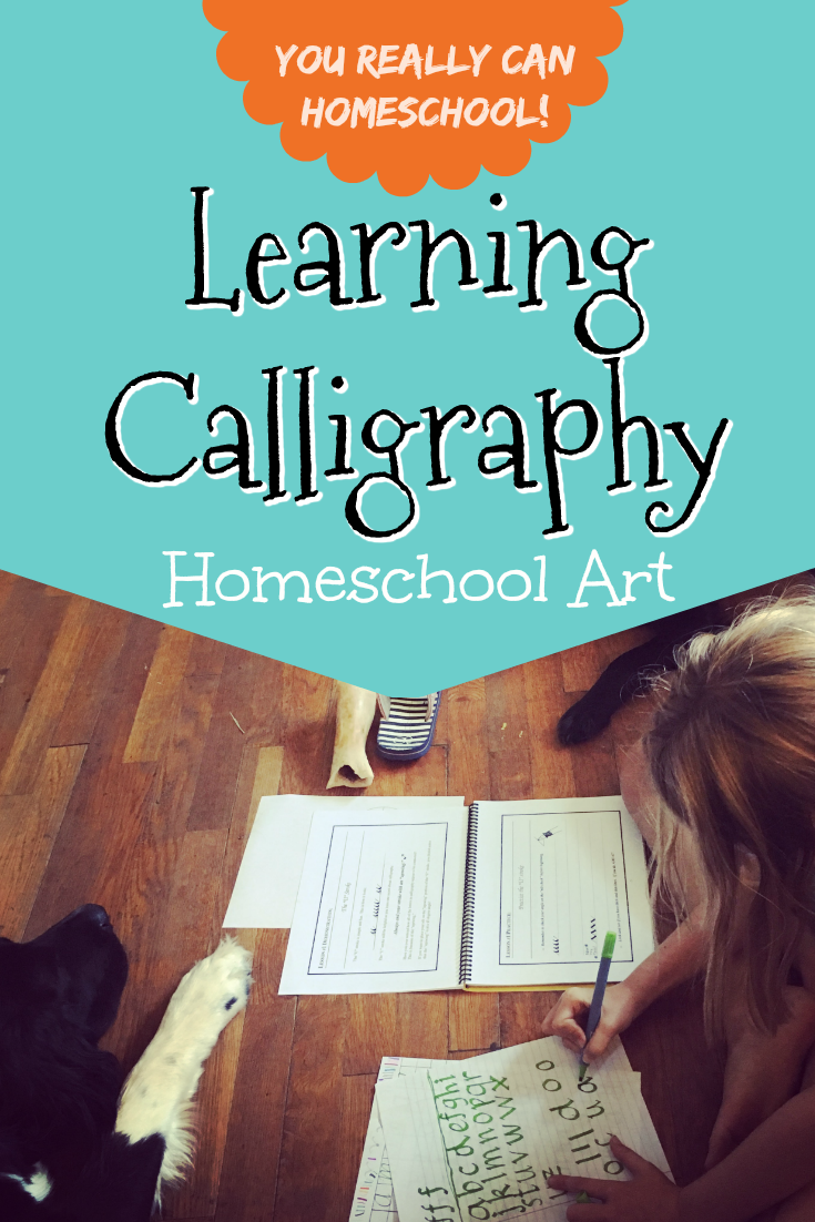 We decided to learn to do calligraphy as part of our homeschool art curriculum. We never expected to learn so much though. See the surprising lessons we learned from calligraphy.