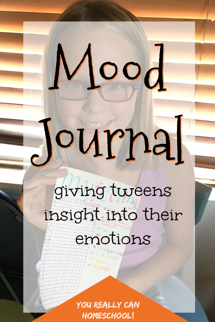 Have you started noticing a pattern to some of your tweens emotions? Help them start recognizing it too, and gain a little insight into their emotions with this mood journal.