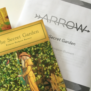 this month's brave writer arrow is The Secret Garden