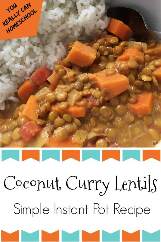 instant pot coconut curry